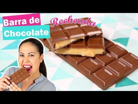 Barra De Chocolate Recheada Com Brigadeiro Especial Pascoa 2019