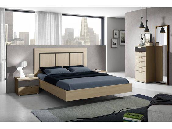 Dormitorio de matrimonio con espejo vertical medidas for Medidas dormitorio matrimonio