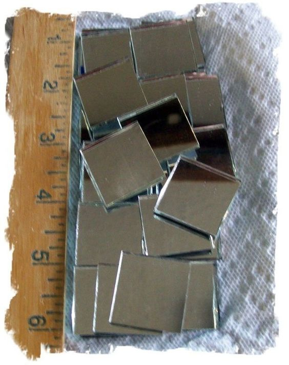 Glue Mini Mirrors Back To Back Glue A Wired String And