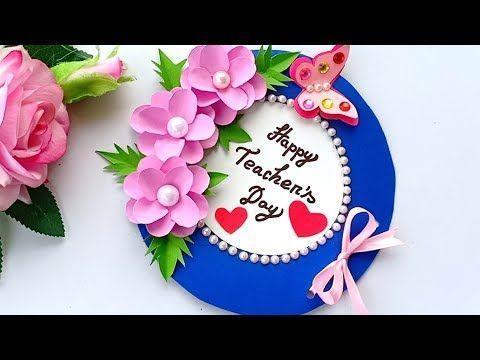Diy Teacher S Day Card Handmade Teachers Day Card Making Idea