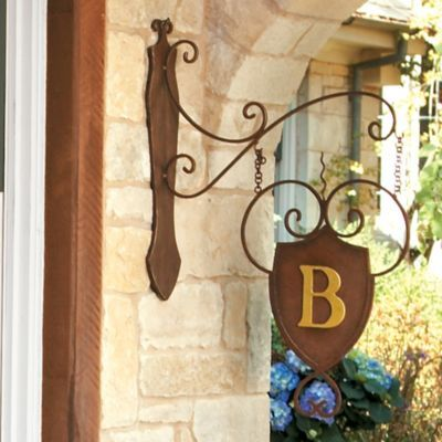 Gorgeous front entrance monogrammed hanging initial. So charming!