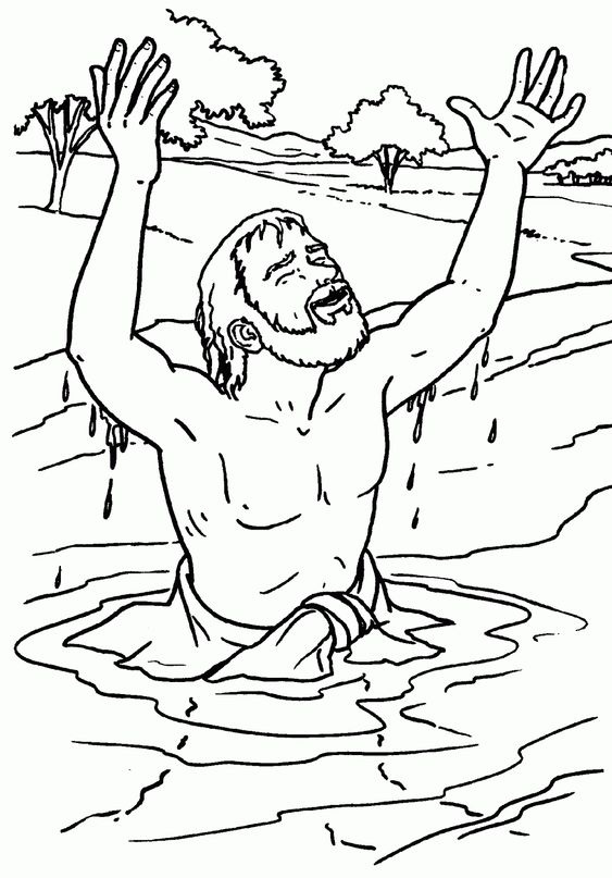 Naaman Coloring Page Bible Crafts Sunday School Sunday School