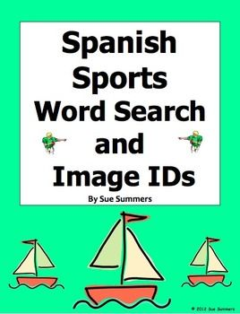 spanish sports word search puzzle worksheet los deportes spanish words and summer. Black Bedroom Furniture Sets. Home Design Ideas