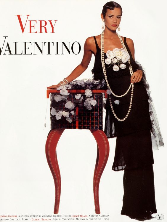 Valentino HC Spring 1992 | with Nadege