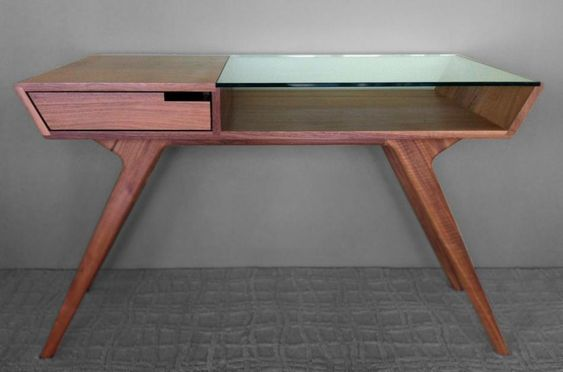 How to improve on that plywood computer desk from Walmart. Elroy Workstation | Atomic Living Design