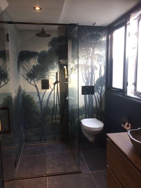 3d Waterfall 7044 Wallpaper Bathroom Print Decal Wall Deco Aj Wallpaper Au Bathroom Wallpaper Bathroom Prints Wall Deco