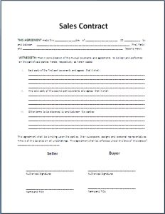 Formal Sales Agreement Contract-Template | My board | Pinterest ...