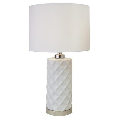 Kookaburra Ceramic Lamp Beautiful Handpainted Base And Linen