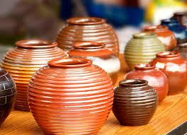 CERAMICS are obtained molding clay and then subjecting it to a baking process at high temperatures.  Ceraics are used for making bricks, tiles, jugs, dishes, sink...