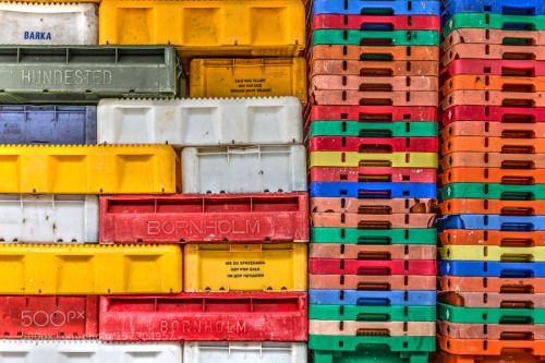 Colorful fish crates by Tungstenlight  IFTTT 500px Rügen Fischerei Fischfang Fischkisten Hafen Ostsee Sassnitz baltic sea bunt colorful c
