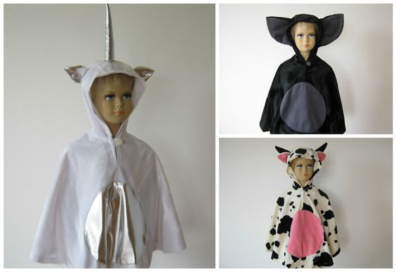 karneval fasching halloween kostüm cape fellimitat einhorn fledermaus kuh