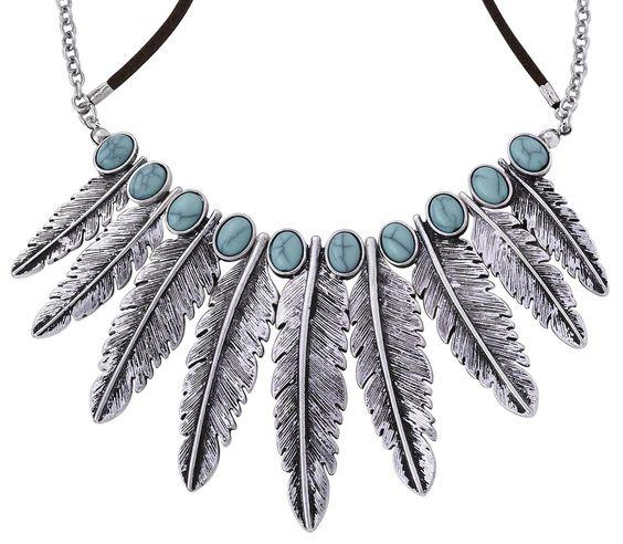 Necklace - Metallfeder