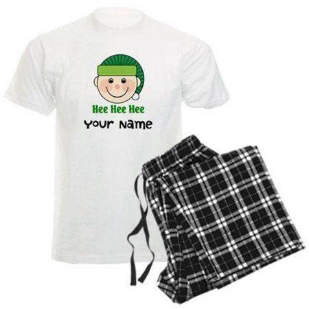 Cafepress Personalized Christmas Elf Men's Light Pajamas, Size ...