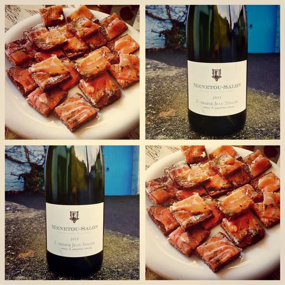 This week's Friday Food & Wine Tip!   We've chosen one of our wines of the month: Menetou Salon: Domaine Jean Teiller Blanc 2013 to pair with a delicious canapé! Chesil Smokery's Sensational Smoked Salmon on Rye Bread, Seasoned with Fresh Dill.   The Teillers' Menetou Salon Blanc (£14.25 per bottle) is a firm favourite chez Yapp.