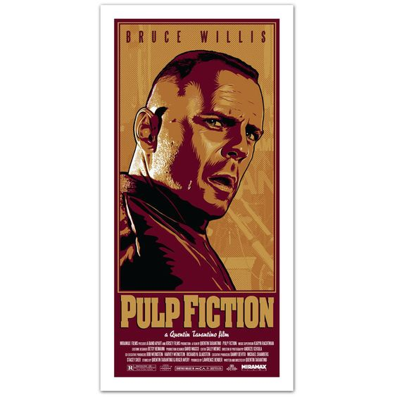 Bruce Willis - Pulp Fiction Poster by o1dpainless