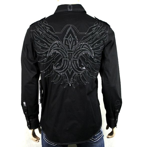 Men's Shirts. Shop long and short sleeved shirts for men in a variety of styles, colors, and prints at Buckle. Our entire selection of branded men's shirts include long sleeve wovens, long sleeve knits, long sleeve t-shirts, button down shirts, polos, short sleeve t-shirts, and short sleeve knits.