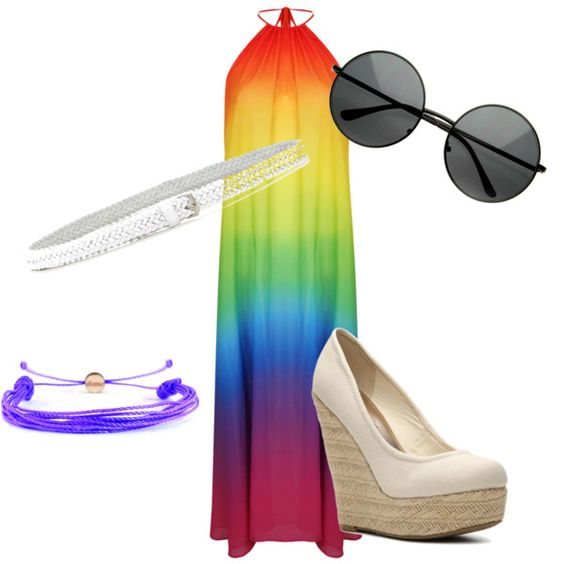 Gay pride by brittanysfbemail on Polyvore featuring polyvore, fashion, style, Madden Girl, Domo Beads and Fashion Focus