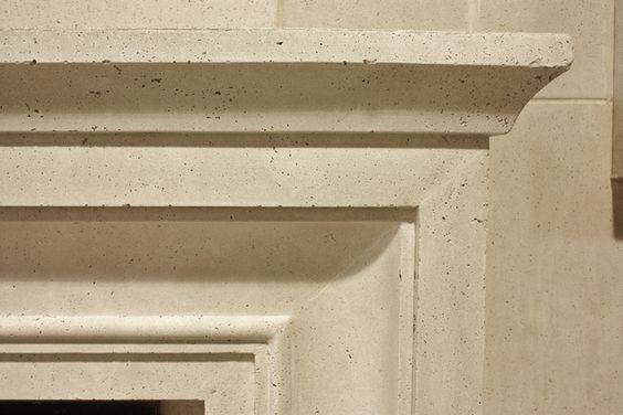Cast-stone mantel - texture and colour sample by AM Group Studio | Via HomeStars.