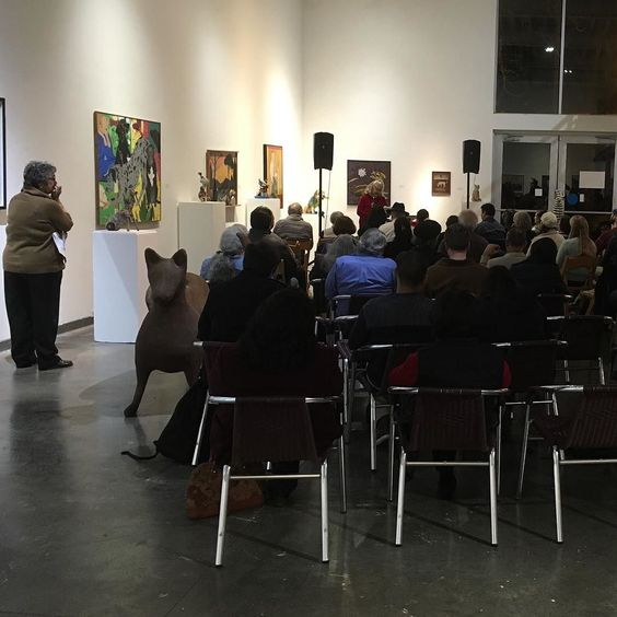 A full house to celebrate Francisco Alarcon with poetry.