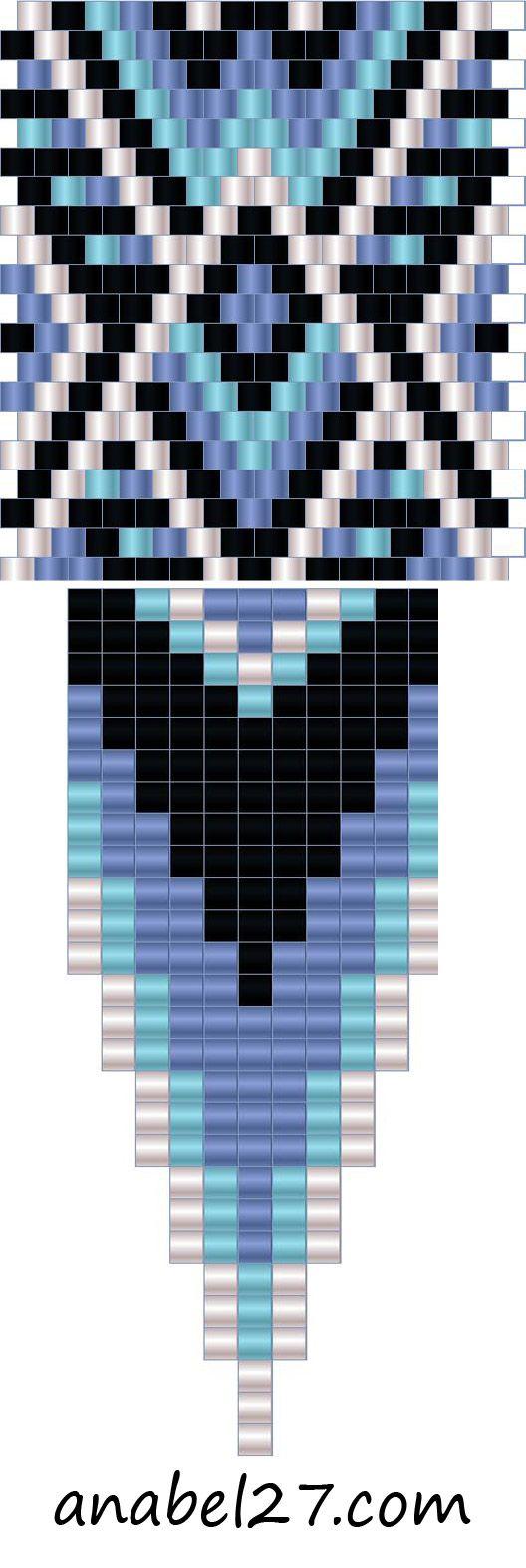 плетение из бисера схемы серьги
