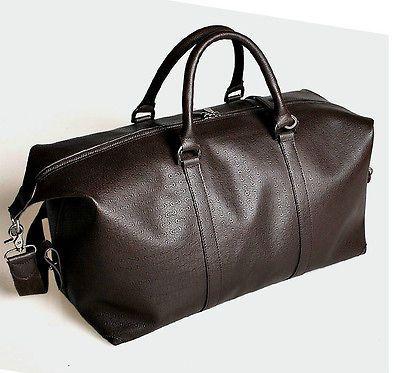 New Fashion Men Women Genuine Leather Bussiness Bag Travel Tote Duffle Bag 2023 | eBay