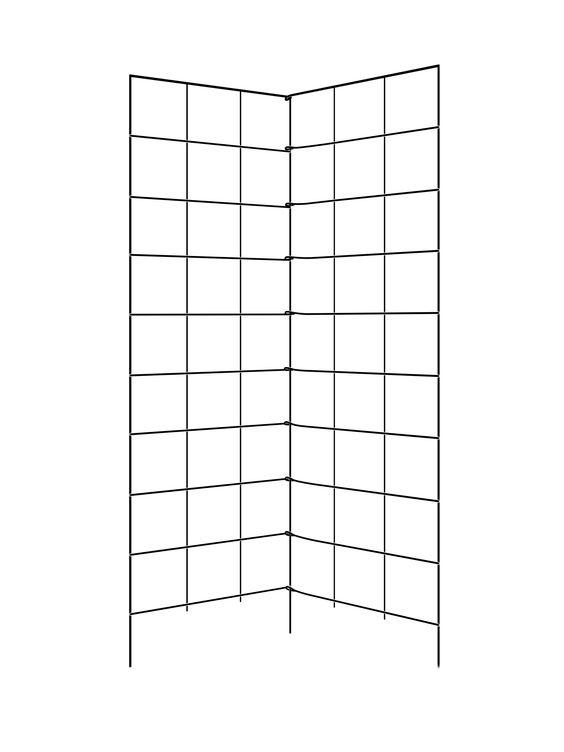 garden trellis  58 u0026quot  tall  two panel folding trellis