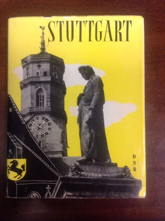 Stuttgart Hardbound Book (1959) In German With A Hand Typed English Translation