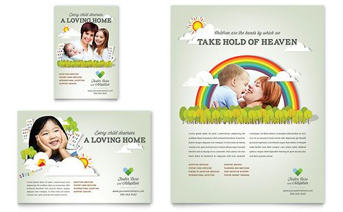 Foster Care \ Adoption Flyer Template from @StockLayouts Flyer - sample preschool brochure