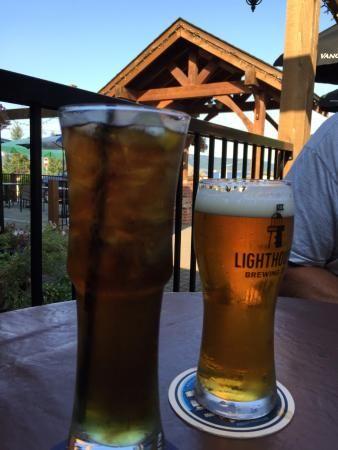 Long Island Iced Tea and a Draught, Crofton Hotel, Crofton, BC