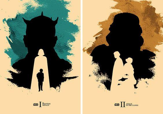 Star Wars Episode Poster Set / The Phantom Menace by moonposter