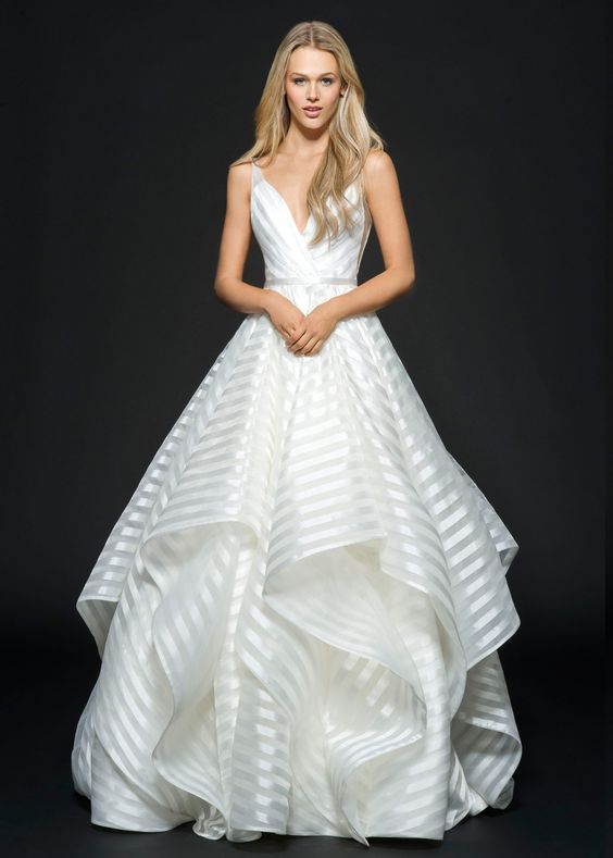 Strapless lace ball gown with pearl beaded bodice. Pnina Tornai 2016 ...