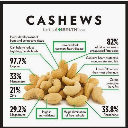 Cashews Fat Content 107