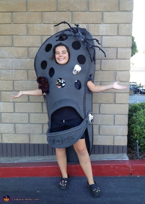 Croc Shoe Costume Homemade, Halloween customs and I am