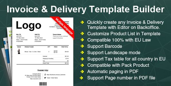 Woocommerce Invoice \ Delivery (Packing Slip) Template Builder - delivery slip template