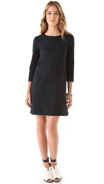 Tibi Long Sleeve Ponte Dress