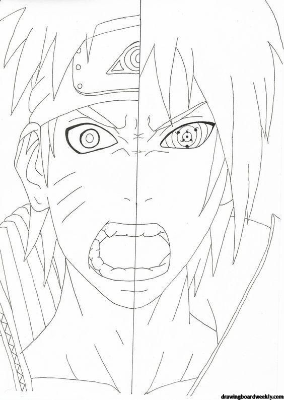 Naruto Coloring Pages Naruto Drawings Naruto Itachi Uchiha Art