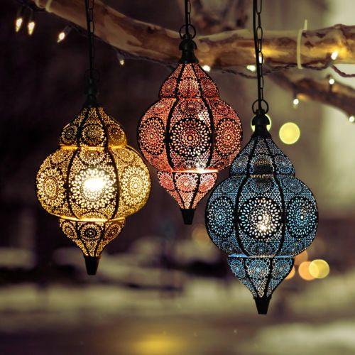 Valentine Day Moroccan Lamps Pendant Metal Ceiling Light Hanging Lantern Lamp Home Lanterns Moroccan Ceiling Light Hanging Lamp