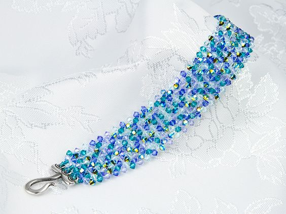 Right Angle Crystal : Right angle weave swarovski crystals and on