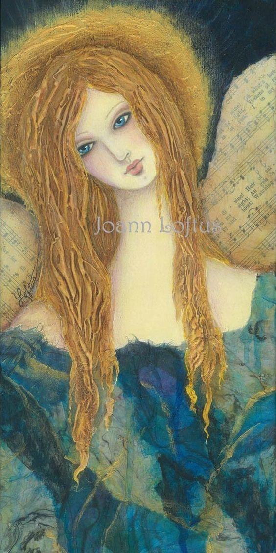 Guardian Angel Folk Art Print