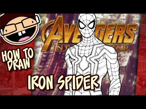 How To Draw Iron Spider Avengers Infinity War Narrated Easy Step By Step Tutorial Youtube Lego Black Spiderman Iron Spider Spiderman Coloring
