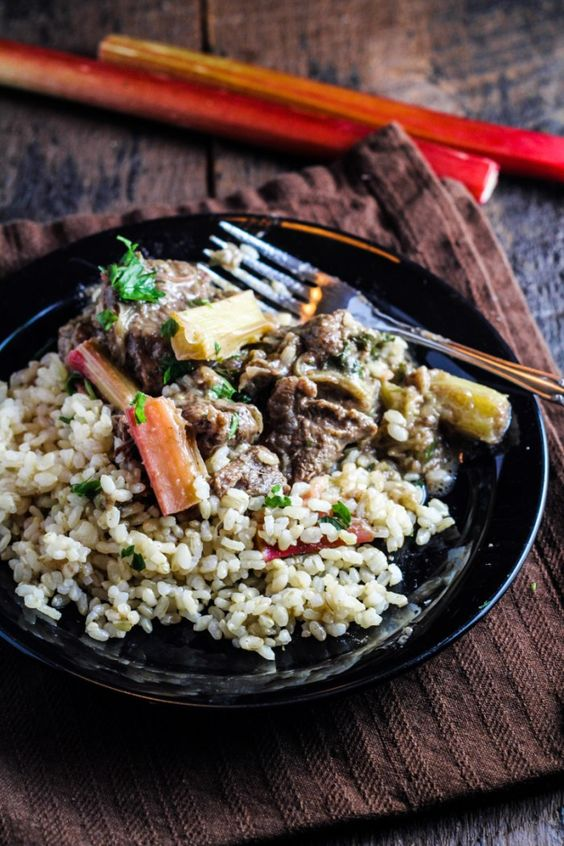 Persian Rhubarb and Beef with Rice