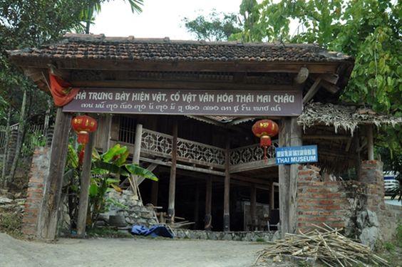 Nhà trưng bày hiện vật, cổ vật văn hóa Thái Mai Châu