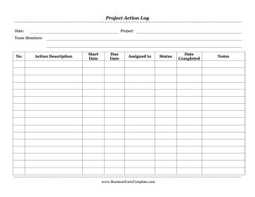 a project action log shows a team what group member is