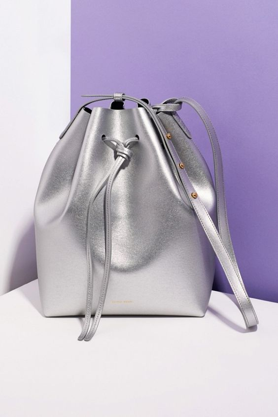 The iconic It-bag gets a shiny metallic makeover // Mansur Gavriel for Opening Ceremony Bucket Bag: