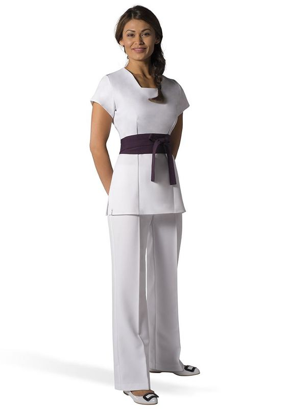 Spa uniform spas and tunics on pinterest for Uniform spa salon