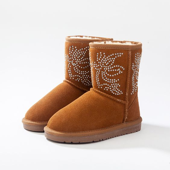 Find More Boots Information about 28 36 Australia snow boots Women Leather botas mujer botte enfant  girls children Winter Student Boots Rubber,High Quality shoe boots online,China shoes winter boots Suppliers, Cheap shoes for the beach from Jason footwear on Aliexpress.com