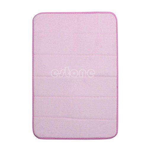 Pink Day Non Slip Bath Rugs Bathroom Memory Foam Bath Mats With