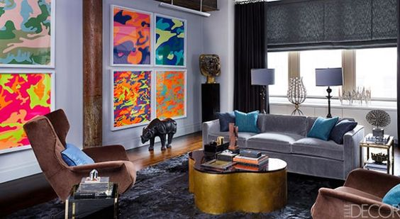 George Nunno's vintage style appartment is located in the epicenter of New York's Meatpacking District.