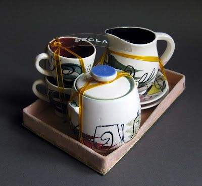Hansi Staël - coffee set - SECLA, 50's
