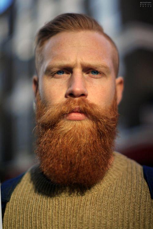 Gwil's Red Beard in Broadwick Street, London  by Jonathan Daniel Pryce, 100beards